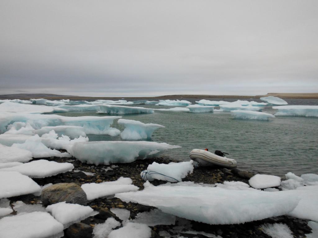 An ice landing outside Fort Ross.