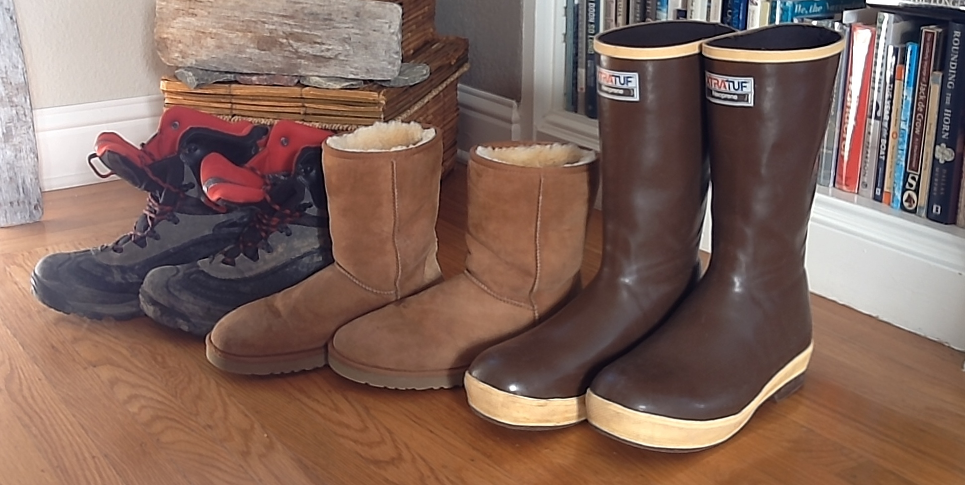 Three boots for the three environments in high latitudes.