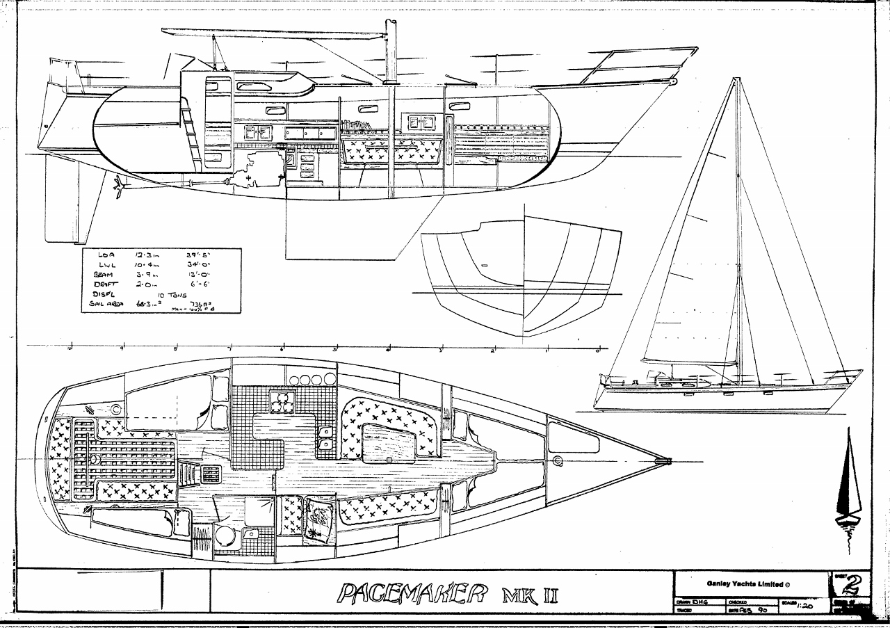 Finding A Figure 8 Voyage Boat Pacemaker 40 By Ganley The Ship Engine Diagram Line Drawing 1280x903