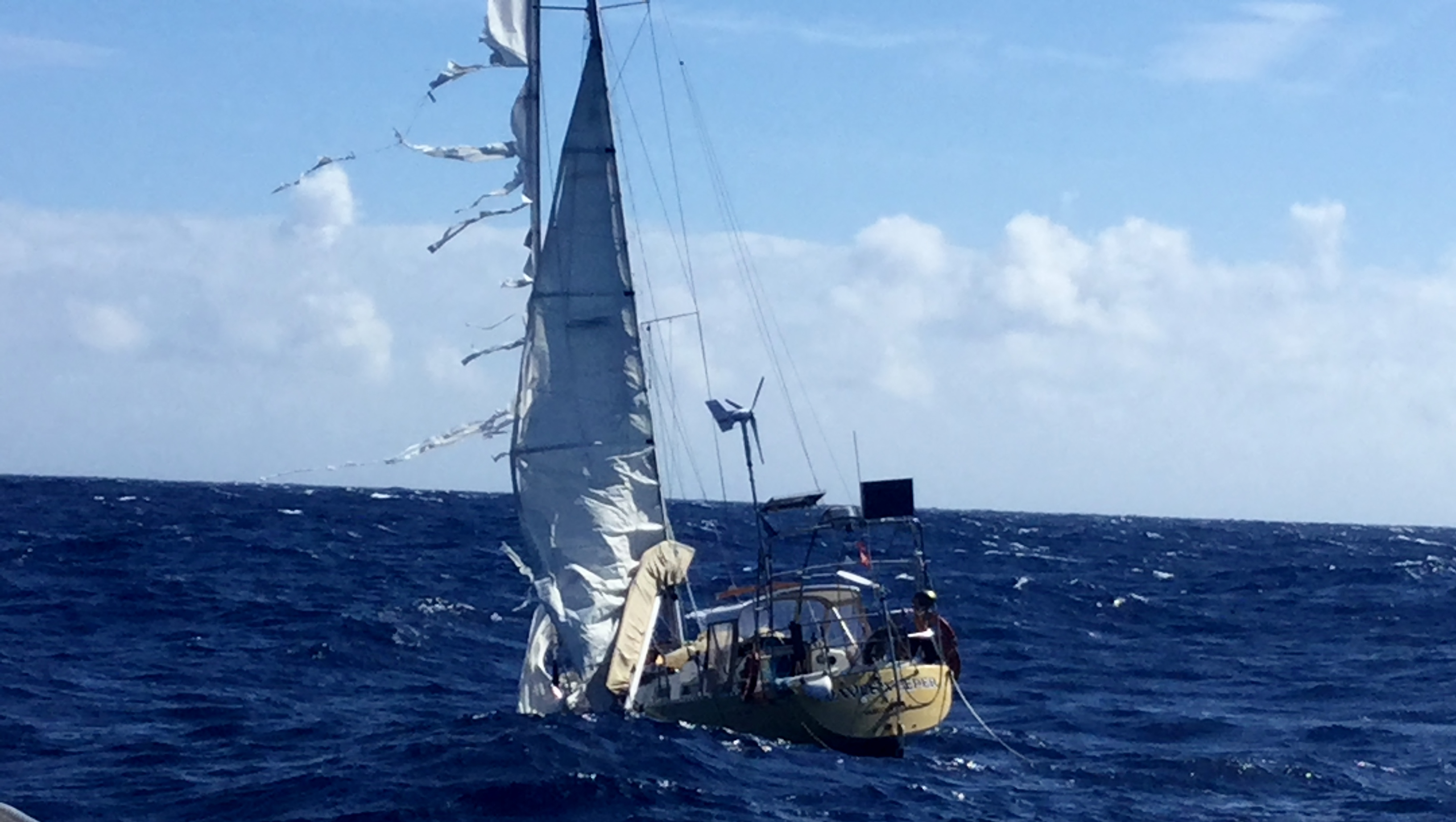 discovery of abandoned sailing vessel wave sweeper the figure 8 voyage